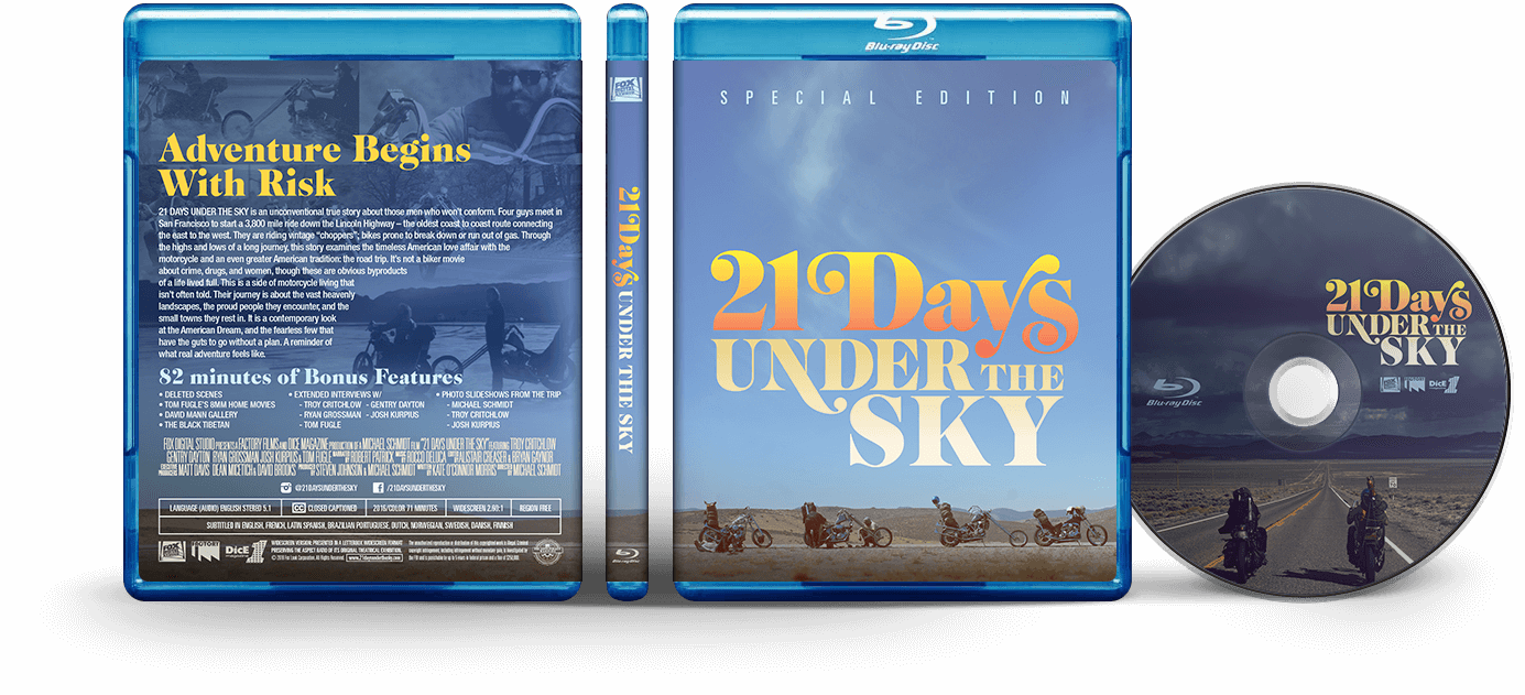 21 Days Under The Sky bluray packaging