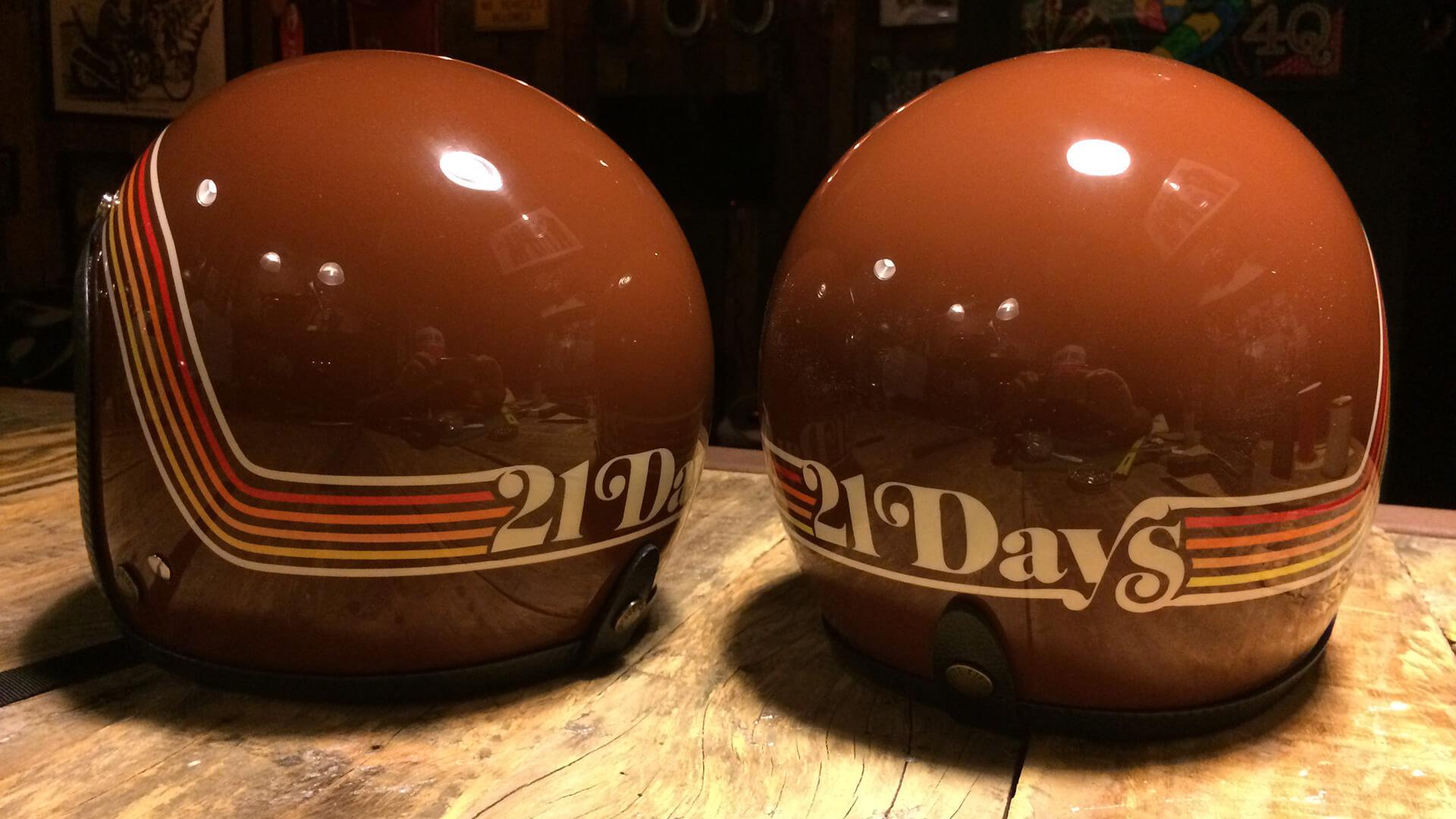 21 Days Under the Sky helmet