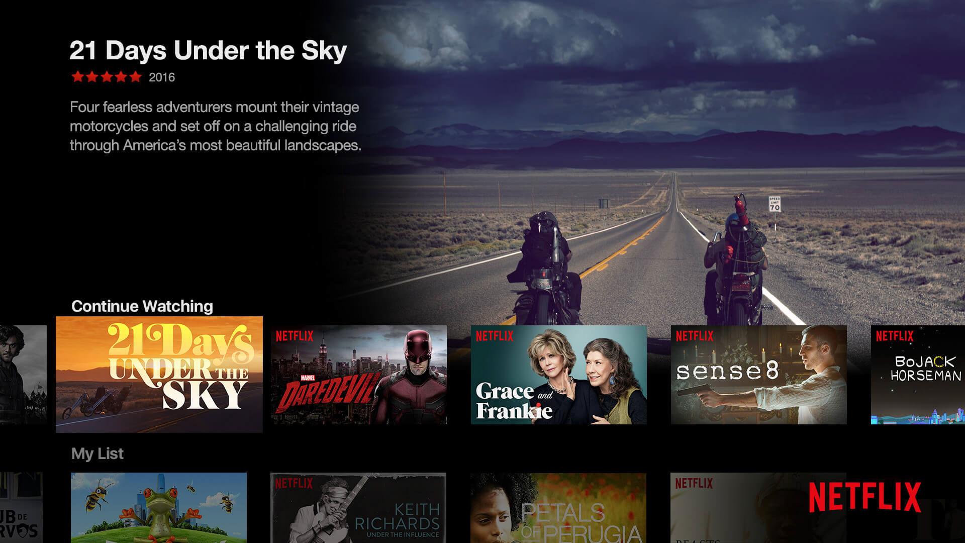 21 Days Under the Sky Netflix screenshot