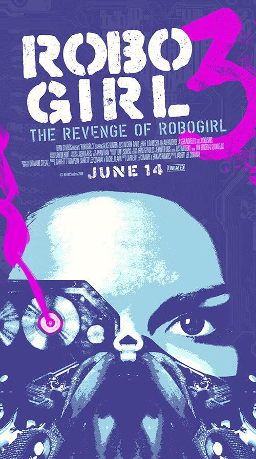 Robo Girl prop movie poster