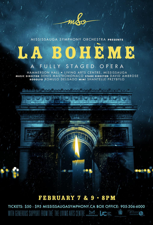 La Boheme opera poster