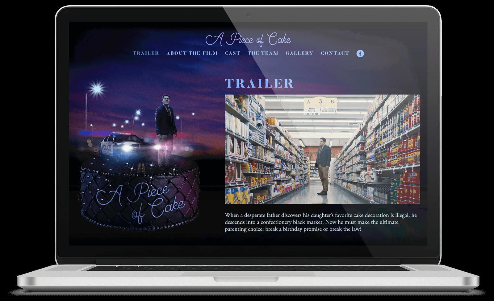 A Piece of Cake website design