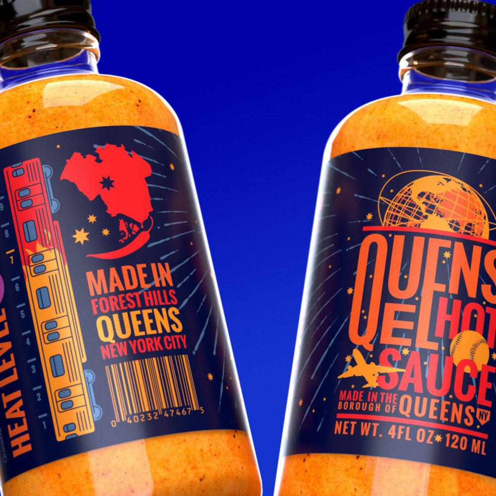 Queens Hot Sauce packaging