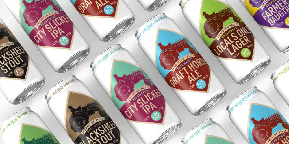 Pemberton Valley BeerWorks packaging design