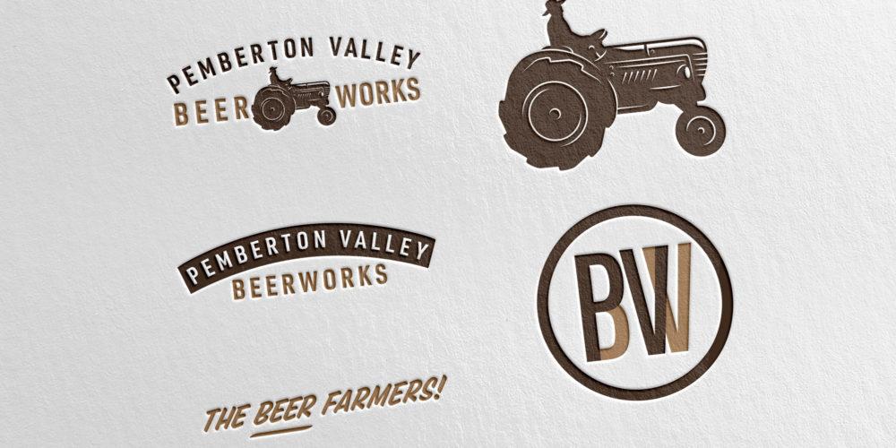 Pemberton Valley BeerWorks logo design